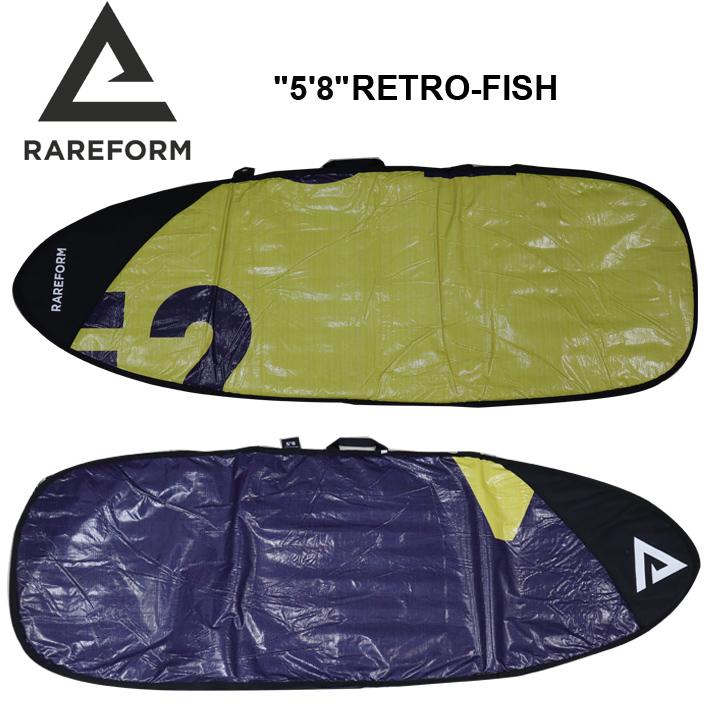 """RAREFORM レアフォーム SURFBOARD BAG """"5'8"""" RETRO-FISH サーフボードバッグ レトロ/フィッシュ用ハードケースサーフボードケース/リサイクル/1点モノ 送料無料!"""