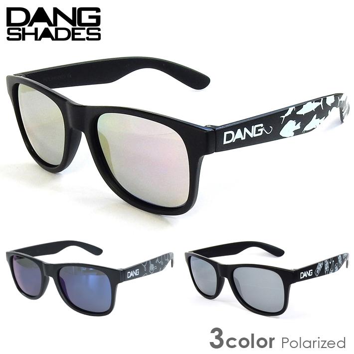 DANG SHADES サングラス LOCO ブラック 偏光レンズ UVカット 眼鏡 スケボー 紫外線 最安値 キャンプ 保証 メガネ サーフィン