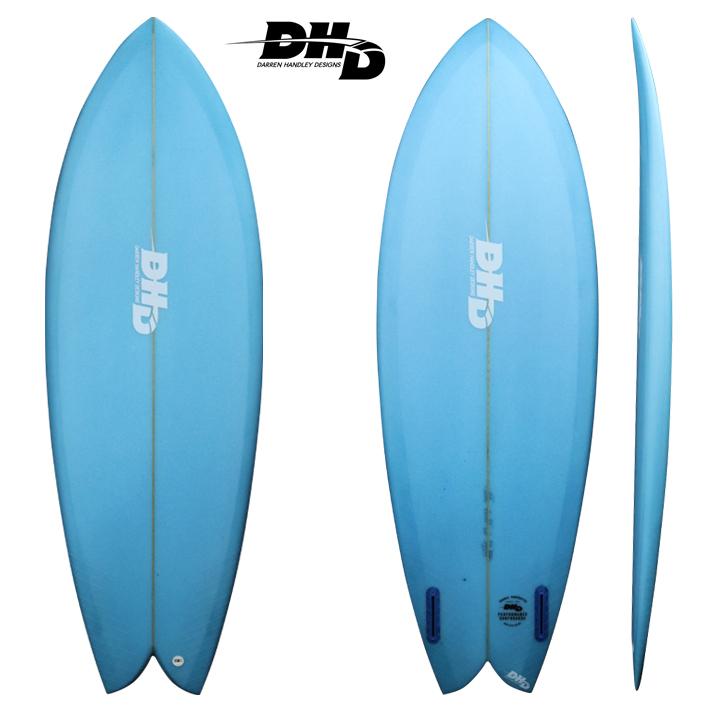 【DHD SURFBOARDS】DHD サーフボードMini Twin ミニツイン Navy Blue Tint 5'5 DHD JAPAN別注カラー アッシャー・ペイシーシグネチャーモデル