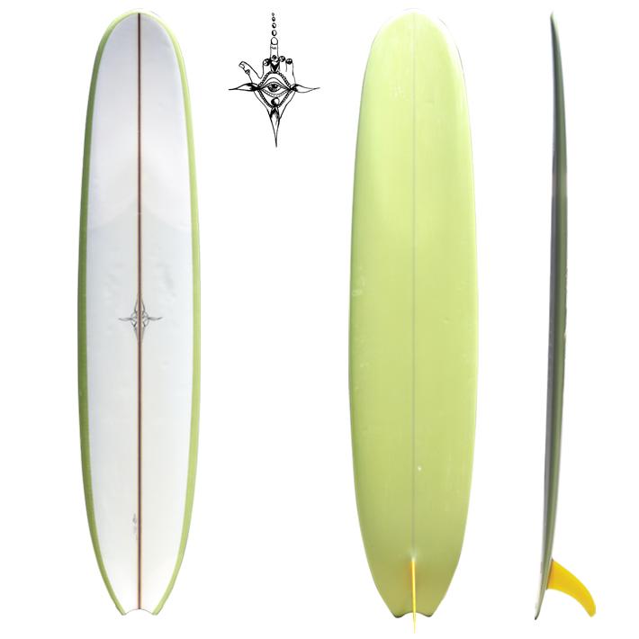 """【中古】 ロングボード 使用状態 【B】★★☆ RYAN BURCH SURFBOARDS ライアンバーチ サーフボード Classic Longboards Giass On Fin 10'2""""本人使用ボード RYAN BURCH パーソナルボード※別途送料"""