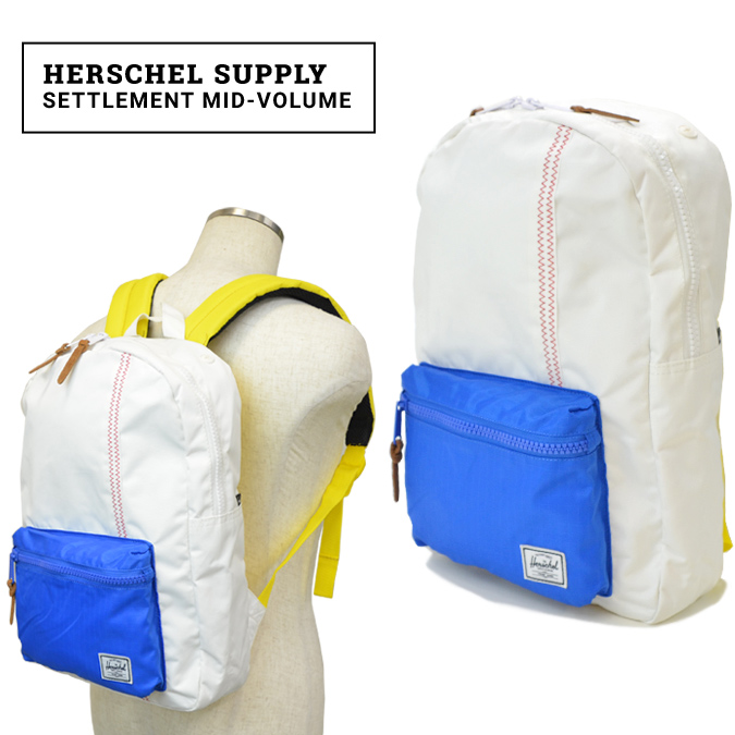 【クーポン利用で最大1,000円OFF】 Herschel Supply(ハーシェル サプライ) Settlement Mid-Volume リュック バックパック バッグ Studio Collection