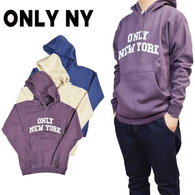 【割引クーポン配布中】 ONLY NY オンリーニューヨーク VARSITY HOODY プルオーバー パーカー スウェット フリース メンズ ストリート スケート
