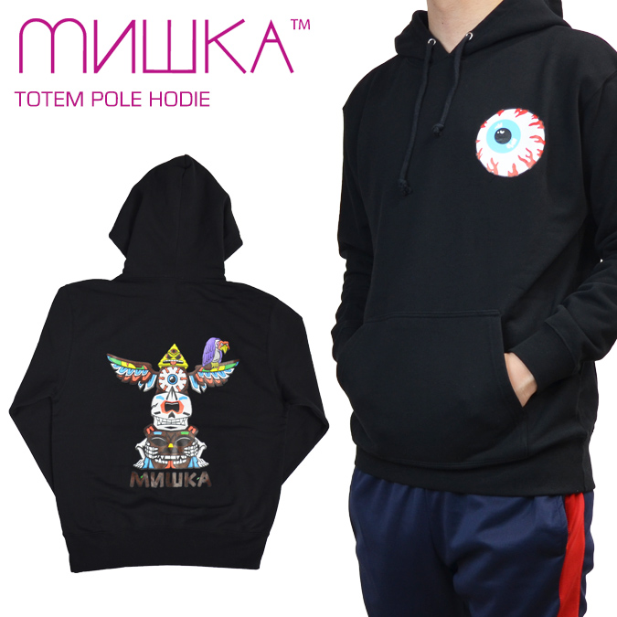 【割引クーポン配布中】 MISHKA / ミシカ TOTEM POLE HOODIE プルオーバー パーカー メンズ スウェット フリース ストリート