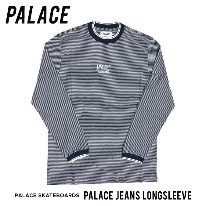 【割引クーポン配布中】 PALACE SKATEBOARDS / パレス スケートボード PALACE JEANS LONGSLEEVE Tシャツ 長袖 ロンT カットソー メンズ ストリート スケート 【クリアランス】