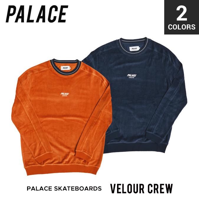 【割引クーポン配布中】 PALACE SKATEBOARDS / パレス スケートボード VELOUR CREW クルーネック スウェット トレーナー メンズ ストリート スケート 【バーゲン】