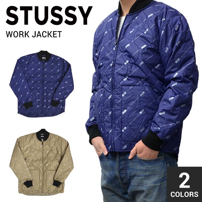 【割引クーポン配布中】 STUSSY / ステューシー WORK JACKET キルティングジャケット ワークジャケット ナイロンジャケット メンズ アウター ブルゾン ストリート スケート