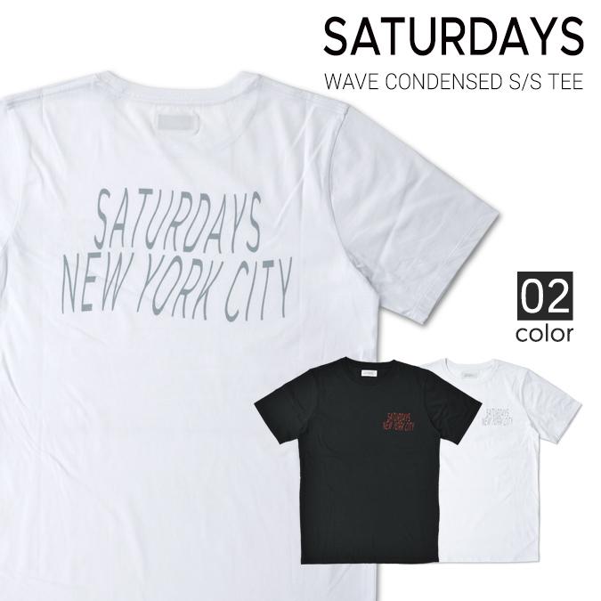 【割引クーポン配布中】 SATURDAYS NYC サタデーズ ニューヨークシティ Wave Condensed S/S Tee Tシャツ 半袖 クルーネック ティーシャツ カットソー サーフ 【単品購入の場合はネコポス便発送】:Slow time life