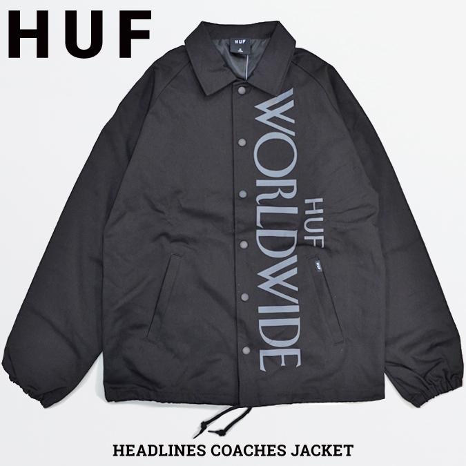 【割引クーポン配布中】 HUF ハフ HEADLINES COACHES JACKET コーチジャケット アウター メンズ ストリート スケート