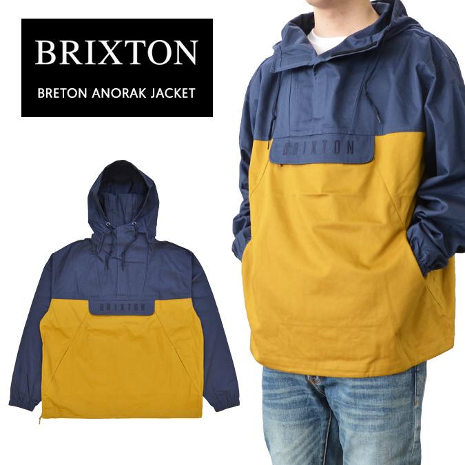 【割引クーポン配布中】 BRIXTON ブリクストン ジャケット BRETON ANORAK JACKET アノラックジャケット マウンテンパーカー 長袖 メンズ S-XL ネイビー 03225