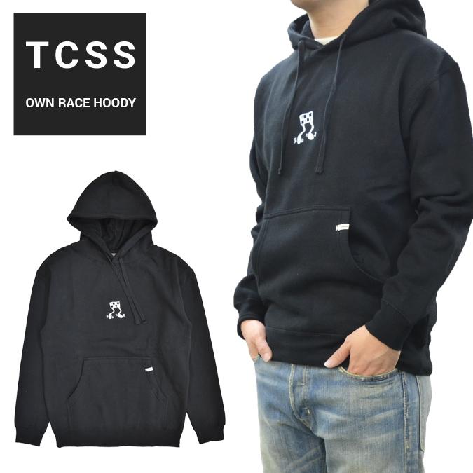 【割引クーポン配布中】 TCSS ティーシーエスエス パーカー OWN RACE HOODY スウェット フリース 長袖 メンズ S-XL ブラック FC1867