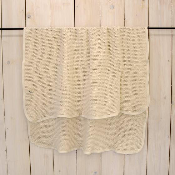 fog linen work baby blanket made in Lithuania foglinenwork