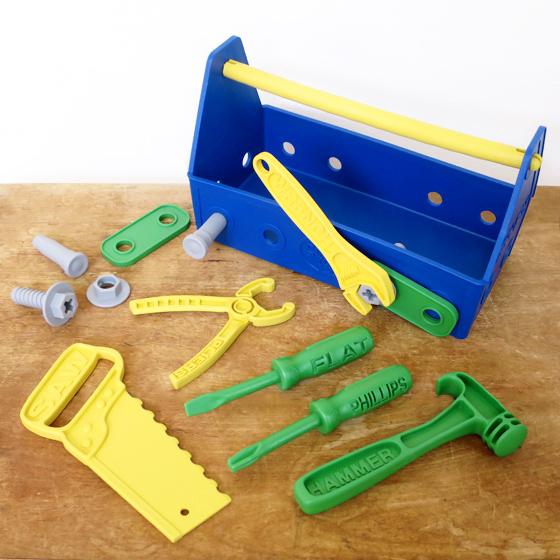 c462ccb390d9 slowworks  American Green toys (green toys) tool set - blue ...