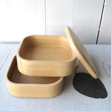 -日本安全玻璃绘画费佩蒂特 2段木制便当盒