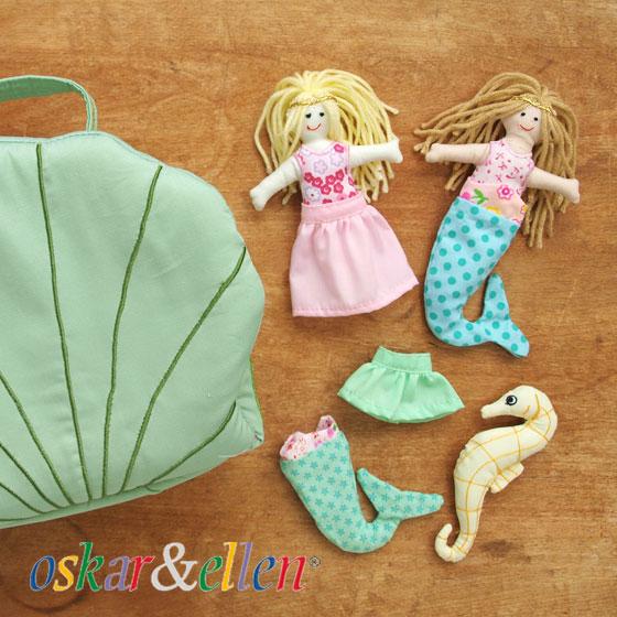 布おもちゃ ドールハウス 女の子 出産祝い 誕生日 かわいい 人形遊び 北欧 スウェーデン Oskar&ellen オスカー&エレン マーメイドシェルハウス