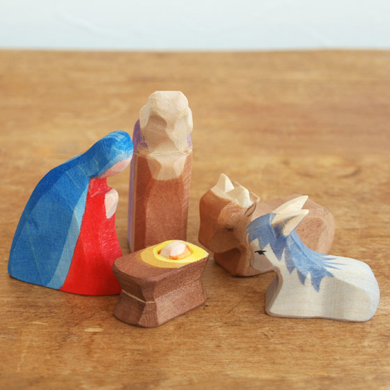 Ostheimer オストハイマー 木製 フィギュア 降誕セット クリスマス オブジェ インテリア おしゃれ 雑貨 おもちゃ 人形遊び かわいい シュタイナー