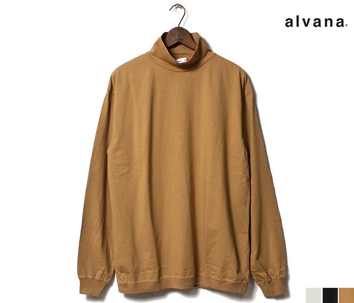 アルヴァナ alvana ロンT タンギス綿 モックネック ハイネック 長袖 Tシャツ TANGUIS MOCKNECK L/S TEE T-SHIRTS 2019FW MADE IN JAPAN (ACS-0034)
