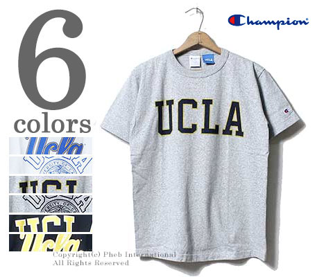 CHAMPION made in USA T1011 'UCLA' heavy weight printed t-shirts  (C5-H303-UCLA)