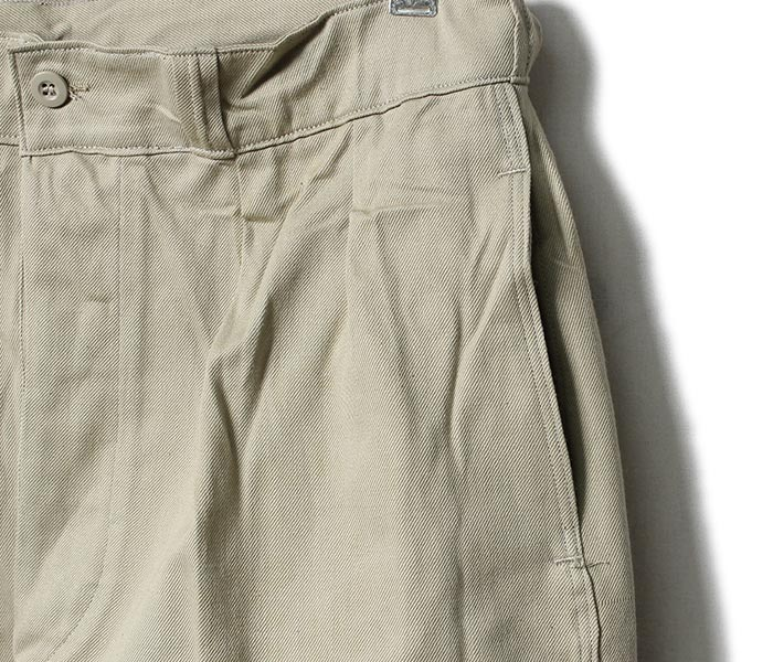 DEADSTOCK made in France 1950s Army Chino trouser chino pants (1950-FRENCH-ARMY-CHINOS)