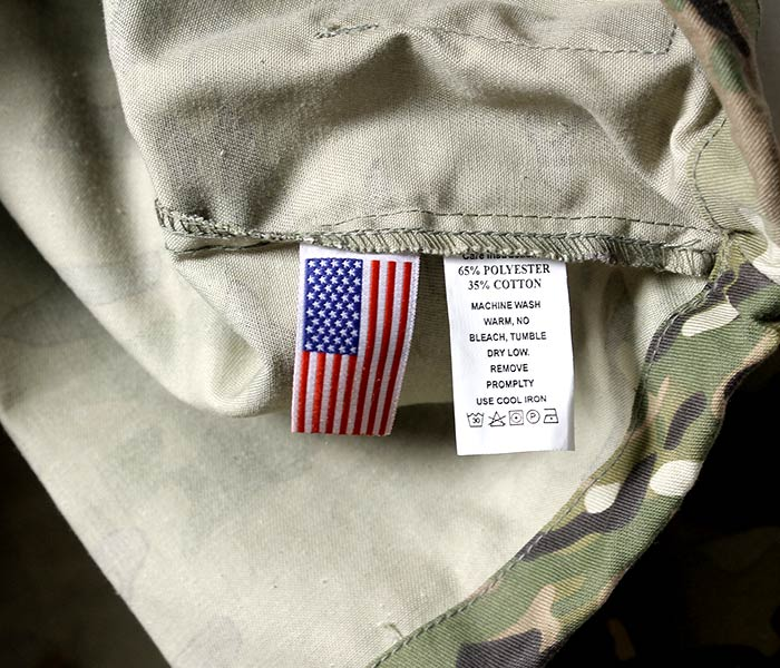 48 PCS WOVEN CLOTHING LABELS MADE IN U.S.A AMERICAN FLAG