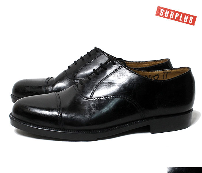 British army parade shoes leather shoes UK MILITARY SURPLUS cap toe  military U K  00s 10s (UK-PARADE-CAPTOE-SHOES)