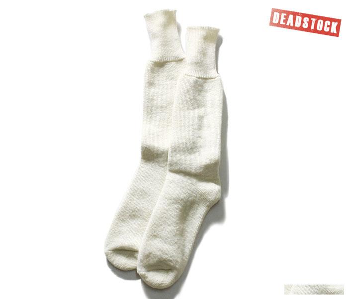 SALE sale BRITISH ARMY British troops white wool socks boots socks socks  dead stock DEADSTOCK (UK-SOCKS-ECW-UNDYED-WHITE)