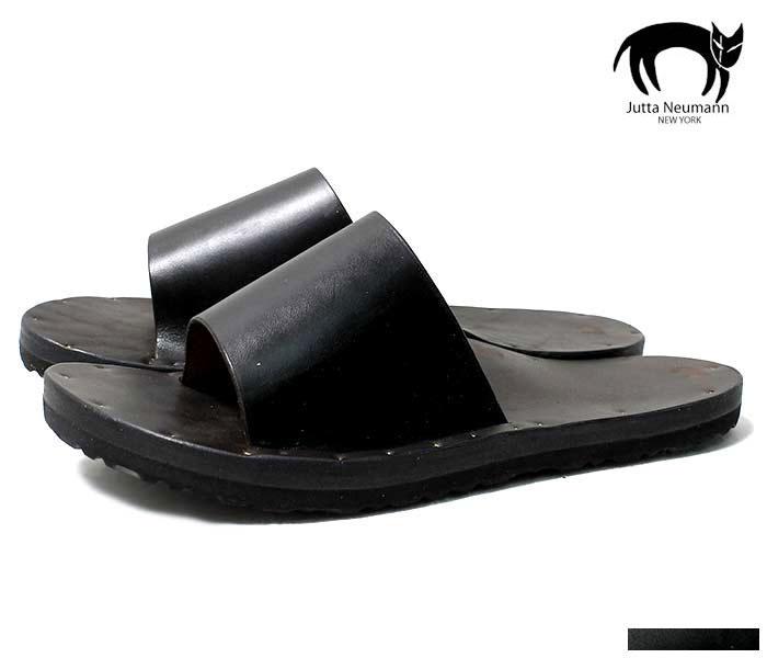 ユッタニューマン JUTTA NEUMANN SIMONE シモーネ サンダル ブラックラティゴレザー ビルケンソール SANDAL BLACK LATIGO BIRKENSTOCK SOLE MADE IN USA (SIMONE-BLACK-LATIGO-BIRK)