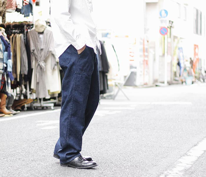 orSlow made in Japan U.S.NAVY denim utility trousers (01-5130)