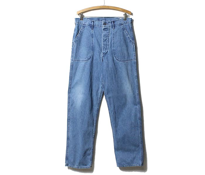 orSlow made in Japan ''3 YEAR WASH'' US NAVY denim utility pants (01-5130-98)