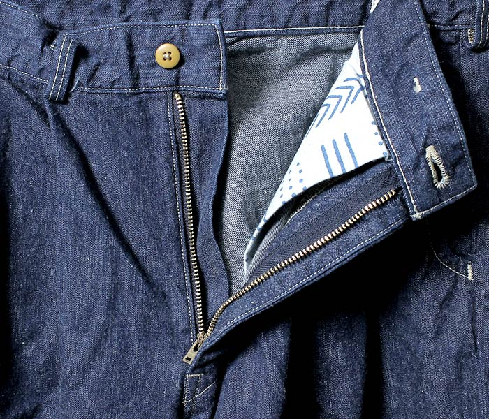 或低下(或扔掉)/orSlow日本制造''粗斜纹布''比利吉恩裤子(01-5560-81)