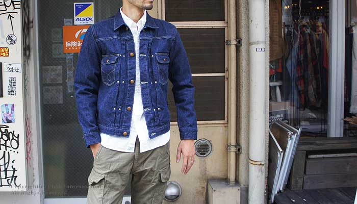 orSlow (MADE IN JAPAN)'' one wash '' Johns denim jacket