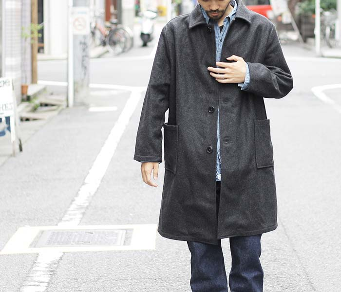 在日本梅尔顿囚犯大衣 (03-6038) 斯洛 (宣誓法) /orSlow