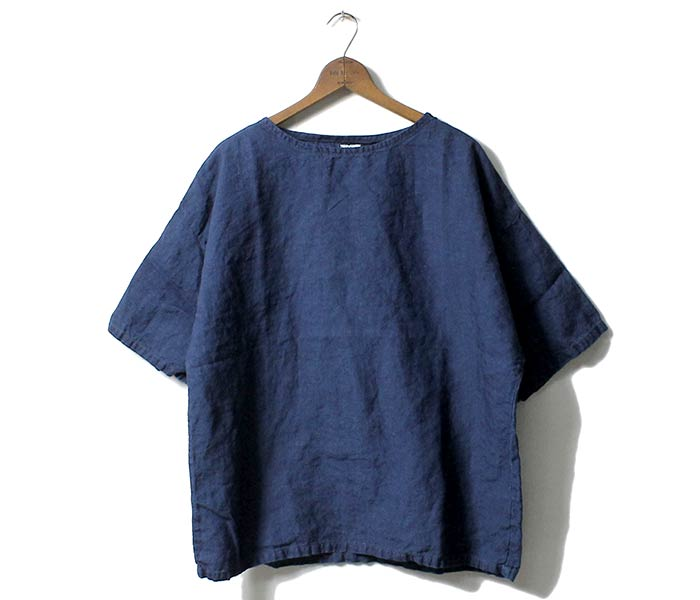 或低下(或扔掉)/orSlow日本制造''靛蓝亚麻布''pottarishatsubasukushatsu(03-8001-01)