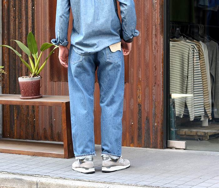 orSlow made in Japan '' 2 YEAR WASH'' DAD'S DENIM jeans denim (01-1010-84)