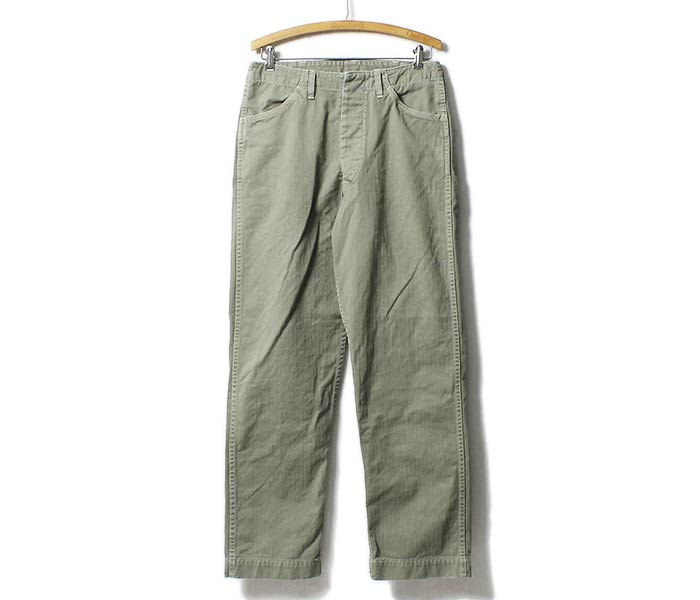 reservation product (going to send it about August ...) orSlow made in Japan '' GREEN USED'' USMC herringbone twill M-41 trouser (01-5211-HBT216)