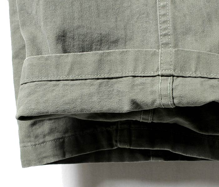 reservation product (going to send it about September ...) orSlow made in Japan '' GREEN USED '' herringbone U.S.ARMY M-43 military 2 pocket cargo pant (03-5250-HBT216)