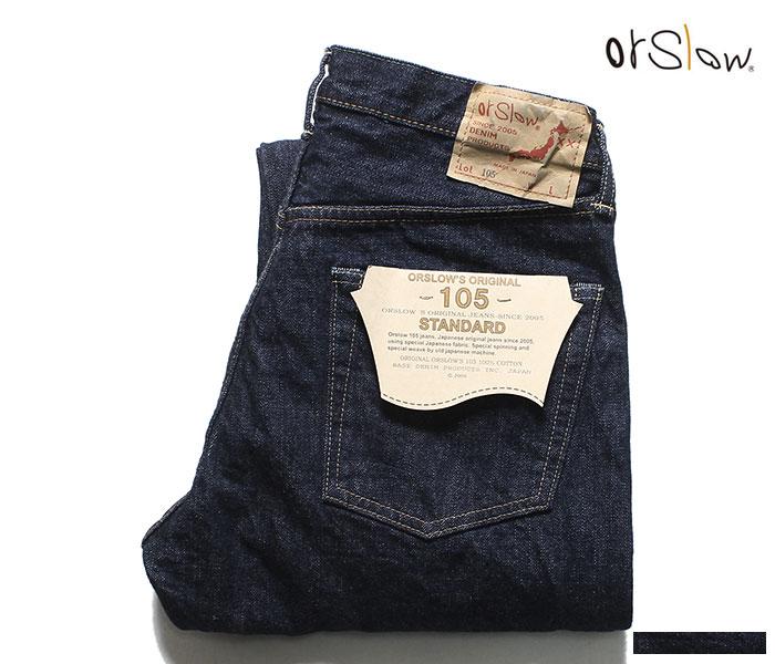 orSlow オアスロウ デニム 105 ワンウォッシュ オリジナル スタンダードフィット ジーンズ ORIGINAL STANDARD 5P DENIM 01-1050 MADE IN JAPAN (01-1050-81)
