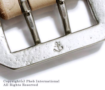 PHERROW'S '' British saddle leather '' ultra-thick double buckles belt (SBB2)