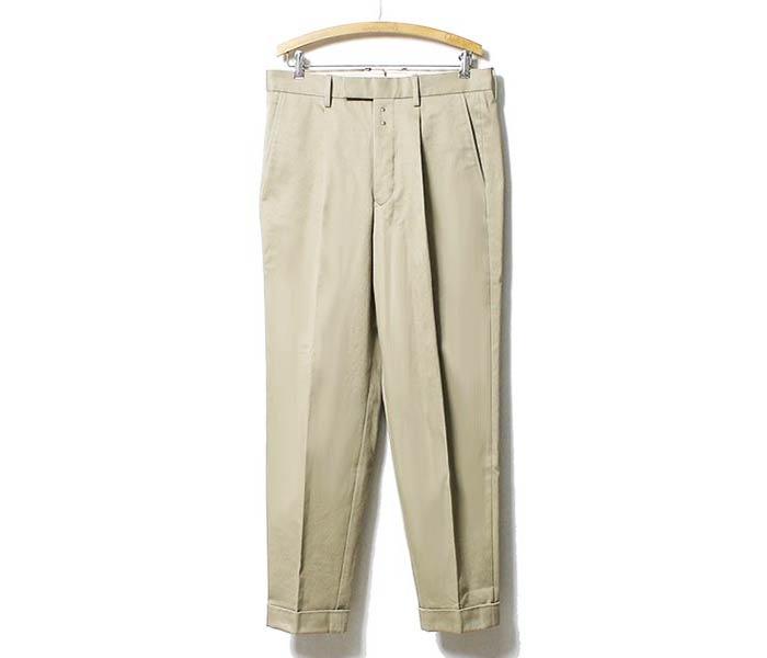 SCYE 基础知识在日本 1 TAC 裤子太阳霍金均匀棉纱奇诺 (SCYE-1-塔克-奇诺-裤子 (5116-81750))