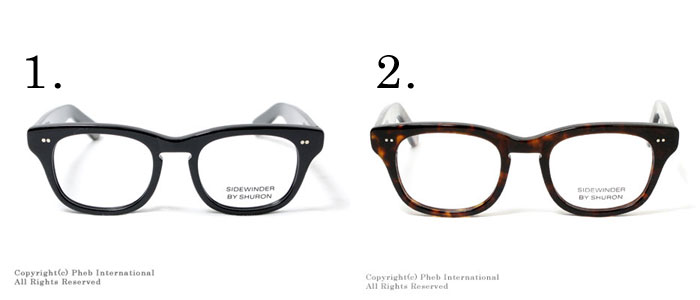 '' sidewinder '' Wellington type glasses (glasses) made in シュロン /SHURON U.S.A.