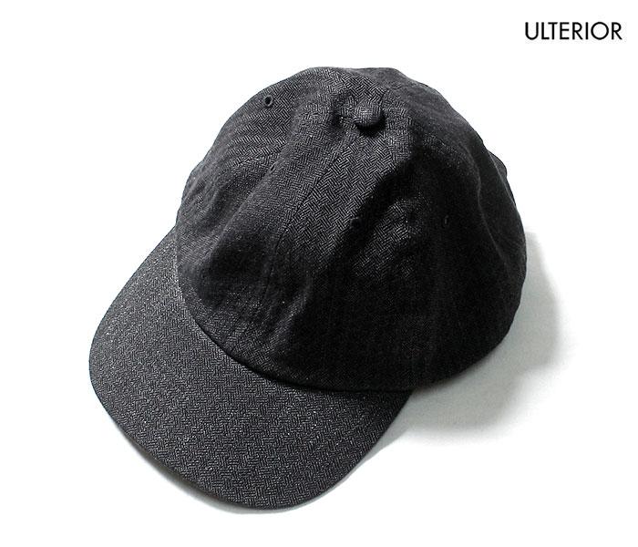 アルテリア ULTERIOR キャップ 6パネル インディゴ バスケットツイル ベースボールキャップ AJIRO INDIGO BASKET TWILL 6 PANELED CAP MADE IN JAPAN (ULHT01-20A19U)