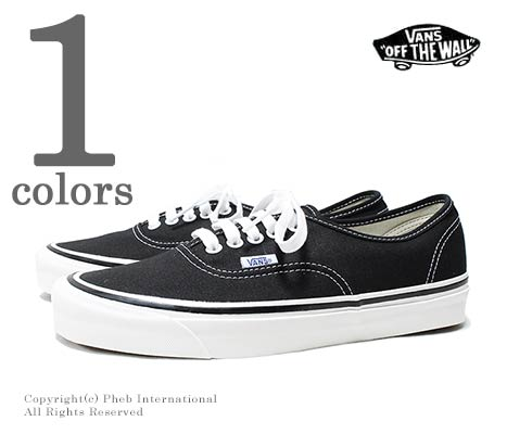 bf9992391b6 VANS limited model ANAHEIM FACTORY   black   authentic AUTHENTIC 44 DX  (VN0A38ENMR2-BLACK)