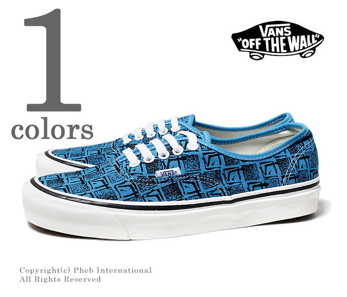 96a59d8c10a Vans station wagons  VANS-limited model Anaheim factory  ANAHEIM FACTORY    OG BRIGHT BLUE SQUARE ROOT   authentic AUTHENTIC 44 DX 2018MS  (VN0A38ENU69-BLUE)