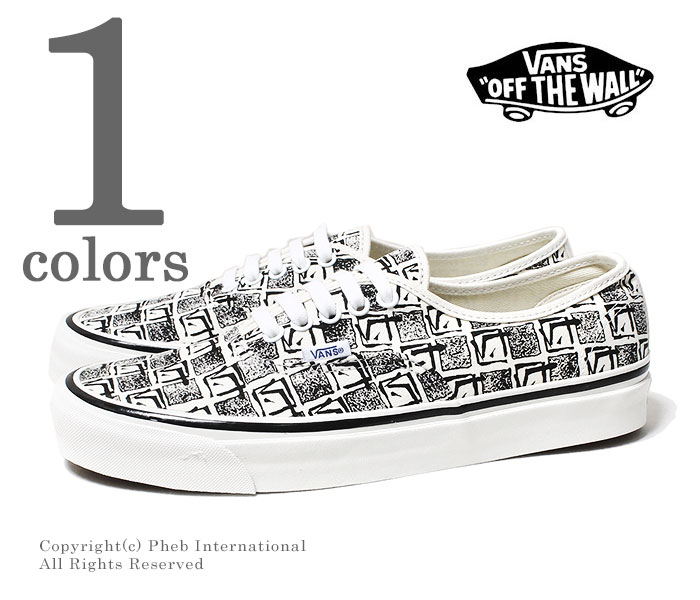 e0e0238a Vans station wagons /VANS-limited model Anaheim factory /ANAHEIM FACTORY  ''OG WHITE/SQUARE ROOT'' authentic AUTHENTIC 44 DX 2018MS  (VN0A38ENU6D-WHITE)