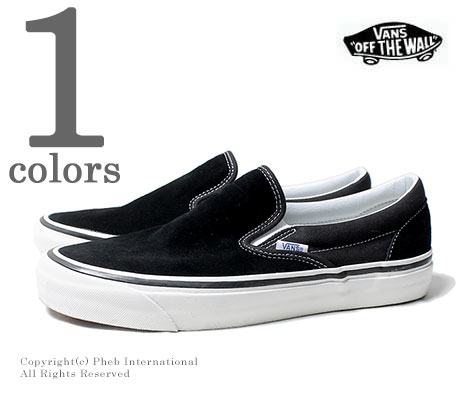 VANS limited model ANAHEIM FACTORY   Black suede   CLASSIC SLIP-ON 98 DX  (VN0A3JEXQU1-BLACK) 812e5afa8