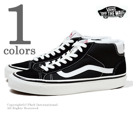 65ca3c04d170f8 VANS limited model ANAHEIM FACTORY COLLECTION    black   white   Mid Skool  37 DX (VN0A3MUOQF6-BLACK)