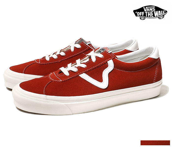 VANS ANAHEIM FACTORY COLLECTION STYLE 73 DX RED sneakers suede (VN0A3WLQVTM RED 19SS)