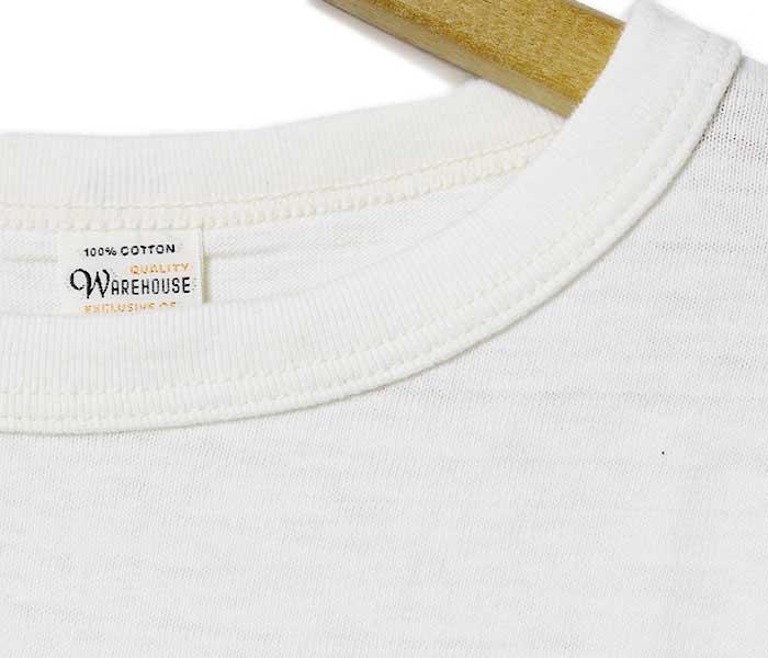预订商品(打算送的未定)服装房屋/WAREHOUSE日本制造7分袖棒球T恤(4800-BASEBALL-PLAIN)