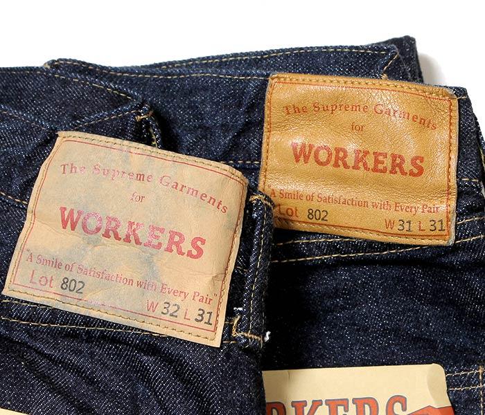 WORKERS 日本制造 ''LOT802'' 修身小脚?形牛仔? ? 牛仔布(denim)(LOT802-SLIM-TAPERED-JEANS)