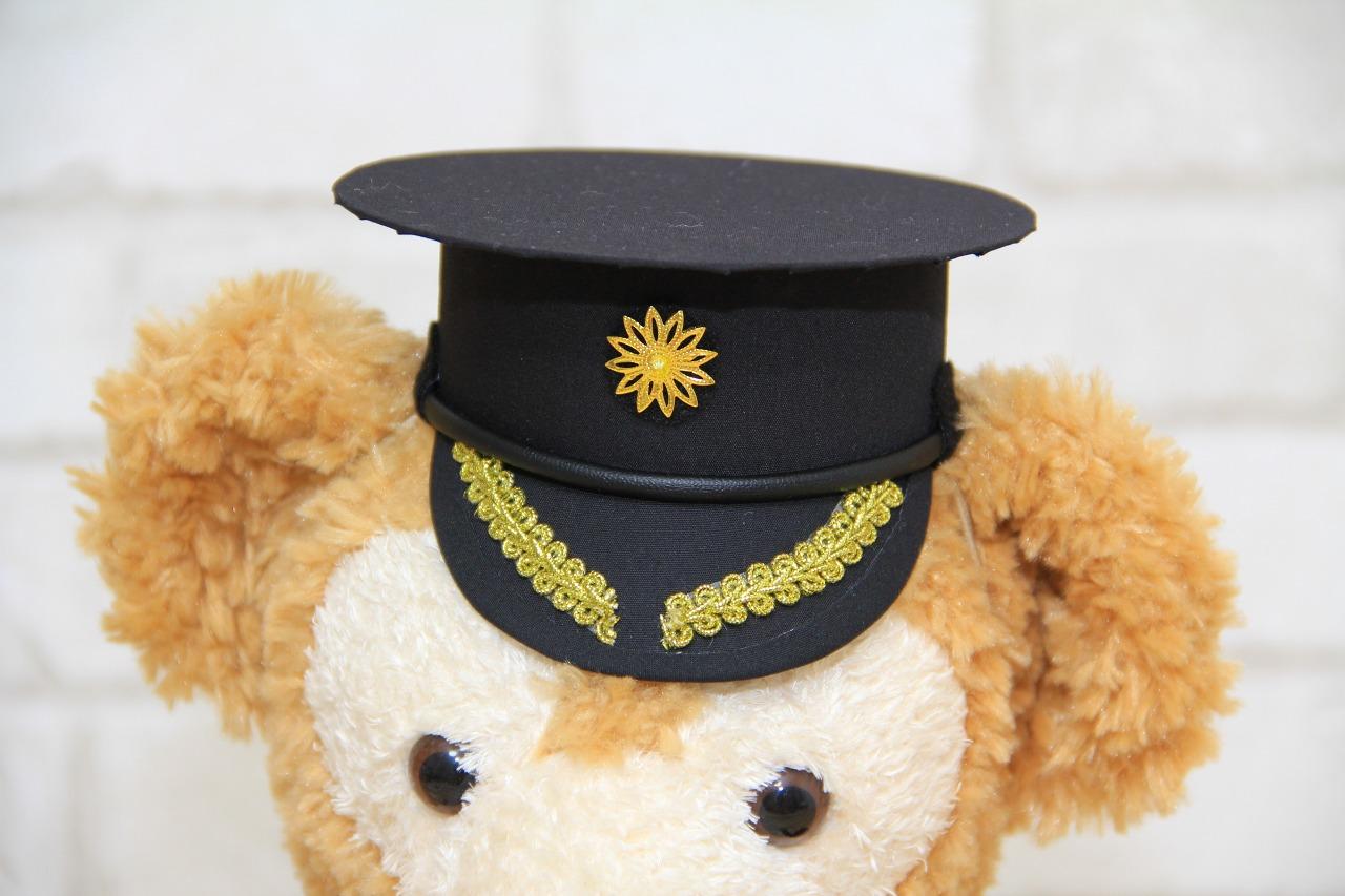 手作り衣装のウェルカムドールでゲストをお出迎えしませんか?ダッフィー S 用の警察官帽子の手作りキットです 警察官帽子の手作りキット 送料無料 オリジナル ハンドメイド ウェルカムベア グッズ オープニング 大放出セール タキシード 制服 ダッフィー コスチューム ウェディングドレス 結婚祝い 激安挑戦中 Sサイズ