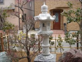 春日燈籠(5尺・岡崎型)御影石日本庭園の定番商品!!和風を彩る必須アイテム!!